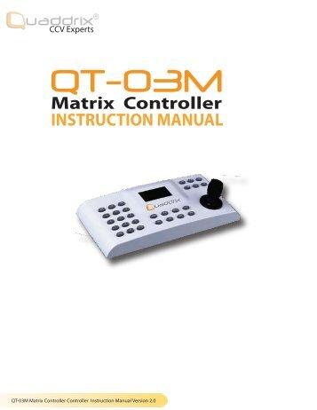 INSTRUCTION MANUAL Matrix Controller