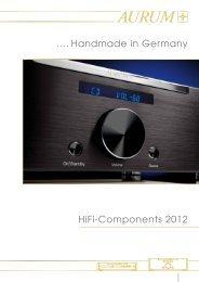 .... Handmade in Germany HiFi-Components 2012 - Quadral