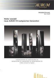 Weiter veredelt: neue AURUM VIII Lautsprecher-Generation - Quadral