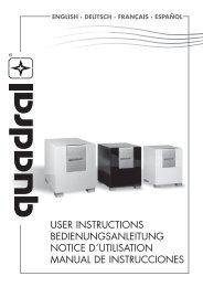 user instructions bedienungsanleitung notice d´utilisation ... - Quadral