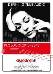 HOME SPEAKER Complete-Catalogue 2012/2013 - Quadral
