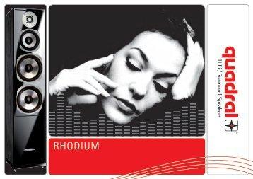 RHODIUM DEFINING TRUE AUDIO - Quadral