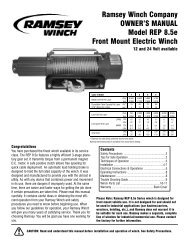 Ramsey Winch Company OWNER'S MANUAL Model ... - Quadratec