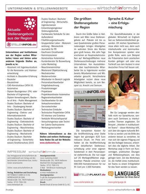 Kunststofftechnik | wirtschaftinform.de 06.2014