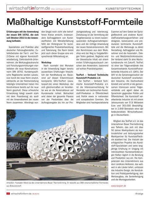 Kunststofftechnik   wirtschaftinform.de 06.2014