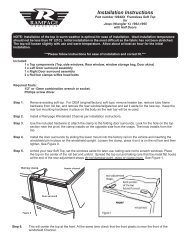 Installation Instructions - Rampage Products