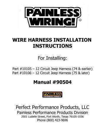 best painless wiring harness diagram photos images for image Painless 10106 Wiring Diagram painless 10106 wiring  sc 1 st  avadelle : painless wiring harness diagram - yogabreezes.com