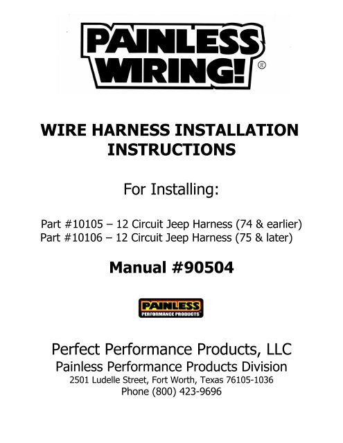 For Installing - Painless Wiring on rover series 3 diesel harness, fuel injector harness, bully dog harness, horse team harness, 5.3 vortec swap harness, car harness, racing seat harness, radio harness, painless fuse box, painless engine harness, dodge ram injector harness, electrical harness, indestructible dog harness, ford 5.0 fuel injection harness, front lead dog harness, chevy tbi harness, duraspark harness, 5 point harness, horse driving harness, 1972 chevy truck harness,