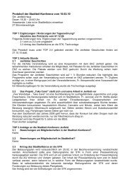 Protokoll der Stadtteil-Konferenz vom 15.02.10 - Quadriga