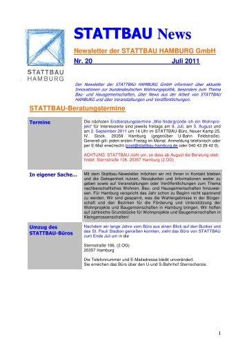 Stattbau-Newsletter Nr 20 - STATTBAU-Hamburg GmbH