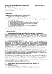 Protokoll der Stadtteil-Konferenz vom 30.08.2010 ... - Quadriga