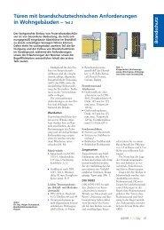 Türen mit brandschutztechnischen Anforderungen in ... - Quadriga