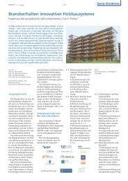 Brandverhalten innovativer Holzbausysteme - Quadriga