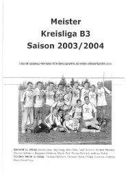 Meisterzeitung Saison 2003/2004 - ASV Rexingen