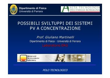 Solare termico, fotovoltaico e raffrescamento solare - Provincia di ...