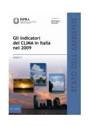 rapporto sul clima in Italia - Ispra