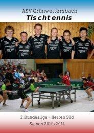 Unsere Mannschaft für die 2. Bundesliga - ASV Grünwettersbach