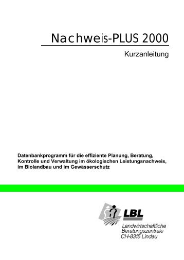 Nachweis-PLUS 2000 - Qualinova AG