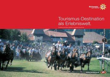 Tourismus-Destination als Erlebniswelt. - STNet.ch