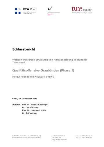 Schlussbericht zur Konzeption 2010 (PDF, 2.18 MB) - Graubünden ...