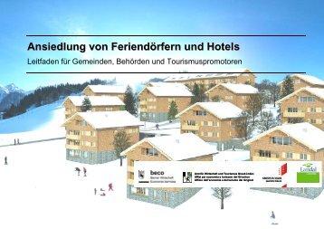 Ansiedlung von Feriendörfern und Hotels - Seco - admin.ch