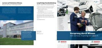 Vorsprung durch Wissen mit Service Training von Bosch