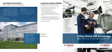 Service Training from Bosch - Qualität ist Mehrwert