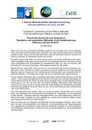 Qualitative und quantitative Methoden in der Sozialforschung