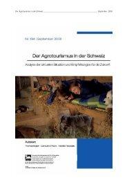 Studie SAB Agrotourismus_August 2008-Internet - STNet.ch
