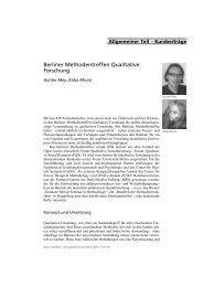 Berliner Methodentreffen Qualitative Forschung