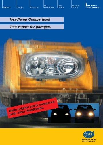Headlamp Comparison! Test report for garages. - Qualität ist Mehrwert