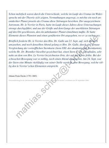 3. Himmelsmechanik - Astronomie und Astrophysik