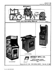 Ms. Pac-Man Manual - The International Arcade Museum