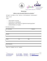 "Workshop ""Aktive instrumentelle Biokommunikation"" - Quantec"