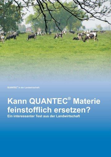 Kann QUANTEC Materie feinstofflich ersetzen?