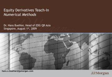 Numerical Methods - Hans Buehler