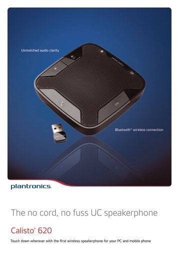 The no cord, no fuss UC speakerphone - Quantum-R Kft