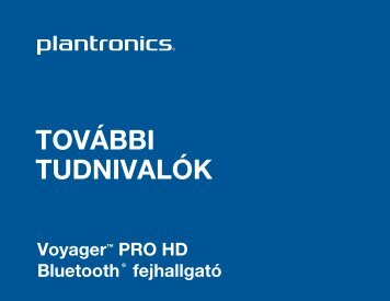 Voyager Pro HD kezelési utasítás (pdf) - Quantum-R Kft