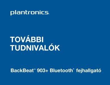 BackBeat 903+ kezelési utasítás (pdf) - Quantum-R Kft