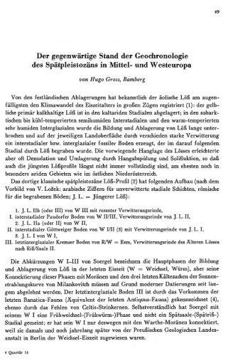 Der gegenwärtige Stand der Geochronologie des ... - Quartaer.eu