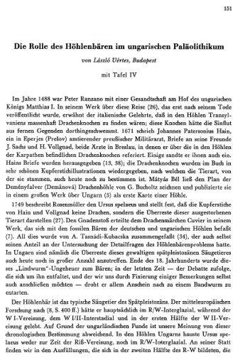 Die Rolle des Höhlenhären im ungarischen ... - Quartaer.eu