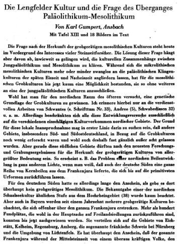 Die Lengfelder Kultur und die Frage des Uberganges ... - Quartaer.eu