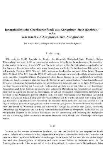 Jungpaläolithische Oberflächenfunde aus Königsbach ... - Quartaer.eu