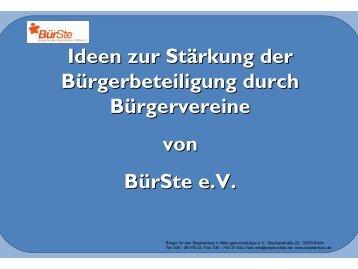 Wer oder was ist BürSte eV?