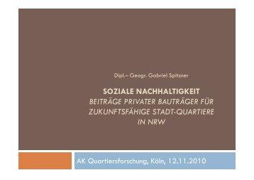Gabriel Spitzner - Arbeitskreis Quartiersforschung