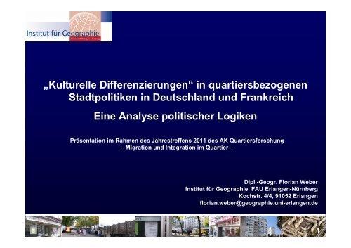 in Stadtpolitiken in Deutschland und Frankreich - Institut für ...