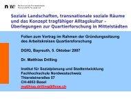 Matthias Drilling - Arbeitskreis Quartiersforschung