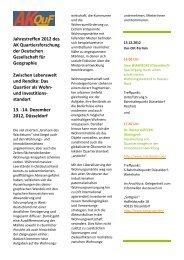 Tagungsprogramm AKQuF Düsseldorf 2012 - Arbeitskreis ...