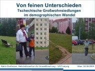 Tschechische Großwohnsiedlungen im demographischen Wandel