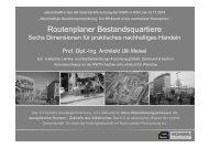 Routenplaner Bestandsquartiere – 6 Dimensionen für praktisches ...
